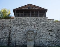 Statue of Constantine the Great in Kala, Berat Fortress