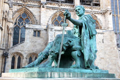 Statue of Constantine I in England , UK Stock Photo