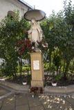 Statue in a Convent Garden in Krakow Poland stock photos