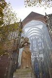 The statue of Corinne Franzen-Heslenfeld in Utrecht, Netherlands. The statue of Corinne Franzen-Heslenfeld in the direction of the Dom of Utrecht, Netherlands Royalty Free Stock Image