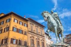 Statue of Cosimo de Medici in Florence, Italy Stock Photo