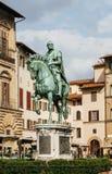 Statue of Cosimo I de Medici on Piazza della Signoria in Florenc Stock Images