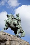 A statue of a Cossack Bogdan Chmelnitsky in Kiev. Royalty Free Stock Images