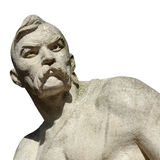 Statue Cossack on the white background Royalty Free Stock Image