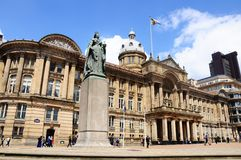 Statue and Council House, Birmingham. Royalty Free Stock Photos