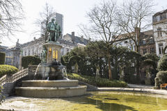 Statue of Counts Egmont and Hoorn in Brussels Stock Photo