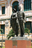 Statue of a couple of workers - Saigon - Vietnam Royalty Free Stock Photography