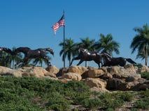 Statue courante de cheval Images stock