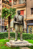 Statue of Cretan Macedonian-Fighter in Thessaloniki Royalty Free Stock Images