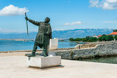 Statue of Croatian Duke Branimir who ruled in the 9th century at the entrance to the historic city of Nin, Croatia Royalty Free Stock Images