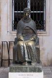 Statue of Croatian writer Marin Drzic in Dubrovnik Stock Photo