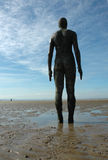 man on beach statue Royalty Free Stock Photos