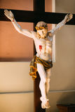 The statue of the crucified Christ on the cross Stock Images