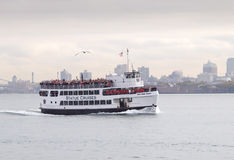 Statue Cruises Ferry, New York Harbour Royalty Free Stock Photos