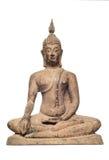 Statue cuite au four de Bouddha d'argile. Photos stock