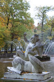 Statue of Cupid Riding a Dolphin Statue at Peterhof Stock Image