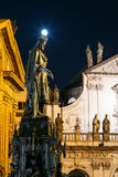Statue Of Czech King Charles Iv In Prague, Czech Royalty Free Stock Photos