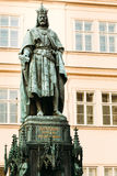Statue Of The Czech King Charles Iv In Prague, Czech Republic Royalty Free Stock Photo