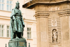 Statue Of The Czech King Charles Iv In Prague, Czech Republic Royalty Free Stock Image