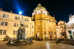 Statue Of Czech King Charles Iv In Prague, Czech Republic Royalty Free Stock Image