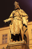 Statue of the Czech King Charles IV. in Prague Royalty Free Stock Photography