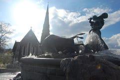 Statue in Dänemark gegen Sonnenlicht lizenzfreies stockfoto