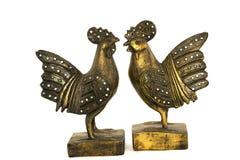 Statue décorée de poulet Photographie stock libre de droits