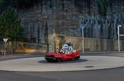 Statue démolie de voiture à Sydney Photographie stock