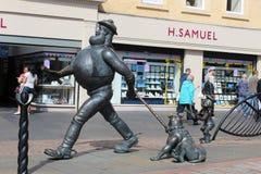 Statue désespérée de caractère comique de Dan, Dundee Images stock
