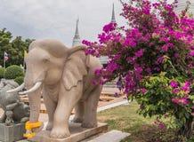 Statue d'éléphant Dans le temple Images libres de droits