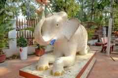 Statue d'éléphant du Cambodge dans la ville de Siem Reap image stock