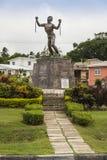 Statue d'émancipation de Bussa en Barbade Images libres de droits
