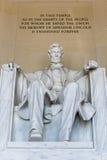 Statue d'Abraham Lincoln Images libres de droits