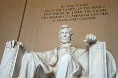 Statue d'Abraham Lincoln dans le mémorial de Lincoln Photo stock