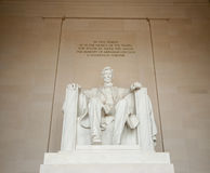 Statue d'Abraham Lincoln dans le Washington DC Images libres de droits
