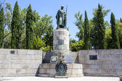 Statue of D. Afonso Henriques in Guimaraes - Portugal Royalty Free Stock Images