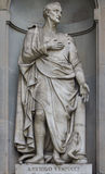 Statue d'Amerigo Vespucci à Florence Photographie stock libre de droits
