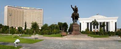Statue d'Amir Temur à Tashkent - Ouzbékistan Photos libres de droits