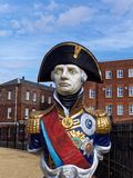 Statue d'amiral Horatio Lord Nelson Photos libres de droits