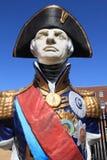Statue d'amiral Lord Nelson à Portsmouth Images libres de droits