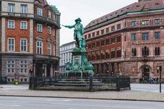Statue d'amiral Niels Juel à Copenhague Photos libres de droits