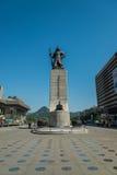 Statue d'amiral Yi Sun-Shin dans la place de Gwanghwamun à Séoul Corée du Sud Image libre de droits