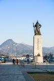 Statue d'amiral Yi Sun-Shin dans Soeul Photo libre de droits