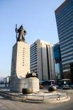 Statue d'amiral Yi Sun-Shin dans Soeul Photographie stock