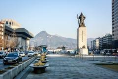 Statue d'amiral Yi Sun-Shin dans Soeul Photo stock