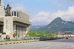Statue d'amiral Yi Sun-Shin, Séoul, Corée Photographie stock libre de droits