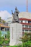 Statue d'amiral Yi Sun-Shin, Séoul, Corée Images libres de droits