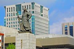 Statue d'amiral Yi Sun-Shin, Séoul, Corée Photo libre de droits