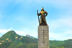 Statue d'amiral Yi Sun-Sin Photos libres de droits