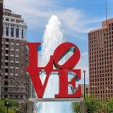 Statue d'amour à Philadelphie Images libres de droits